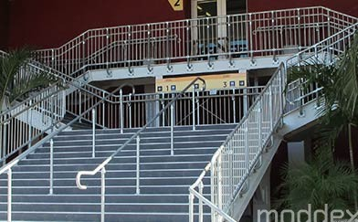 Connectabal CB10 Commercial Balustrade and Assistrail AR10 Disability Handrail Moddex