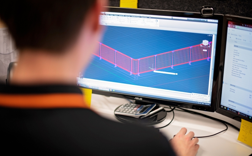 Modular Handrails and Balustrades CAD Image 7