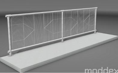 Moddex anti-climb and anti-throw infill panels reduce risk of criminal damage